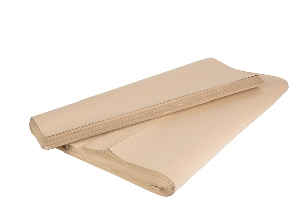 700 x 1150mm Pure Ribbed Kraft Paper Sheets - 70gsm