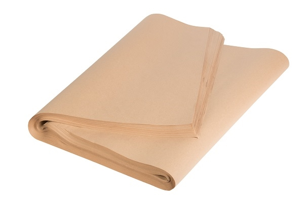 900 x 1150mm Pure Ribbed Kraft Paper Sheets - 70gsm