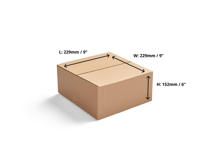 229 x 229 x 152mm Double Wall Cardboard Boxes