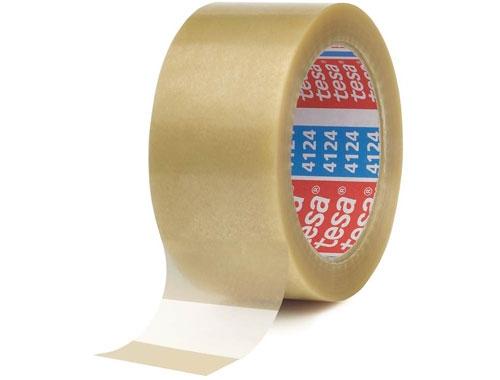 50mm x 66m Tesa 4124 Packing Tape - Clear