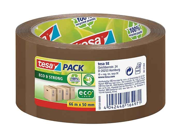 50mm x 66m Tesa Recycled Packing Tape - Brown