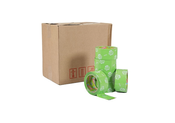50mm x 66m Tesa Recycled Packing Tape - Green