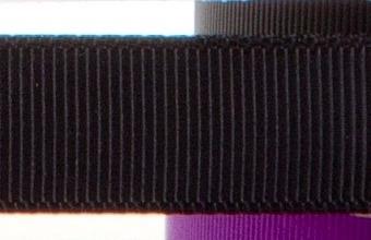 15mm x 20m - Black Premium Grosgrain Fabric Ribbon