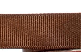 15mm x 20m - Brown Premium Grosgrain Fabric Ribbon