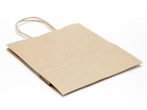 180 x 200 x 80mm - Premium Ribbed Kraft Paper Gift Bags