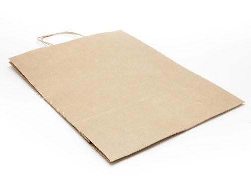 320 x 425 x 130mm - Premium Ribbed Kraft Paper Gift Bags