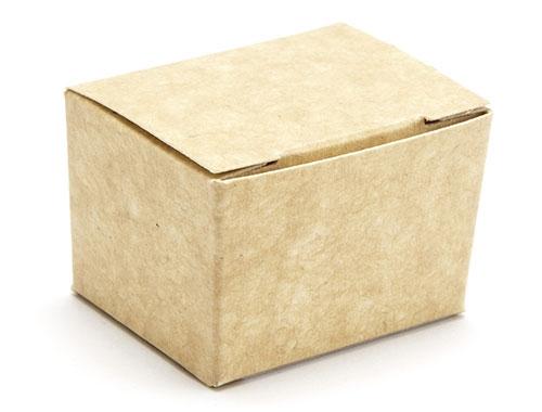 37 x 33 x 31mm - Natural Kraft Ballotin Gift Boxes