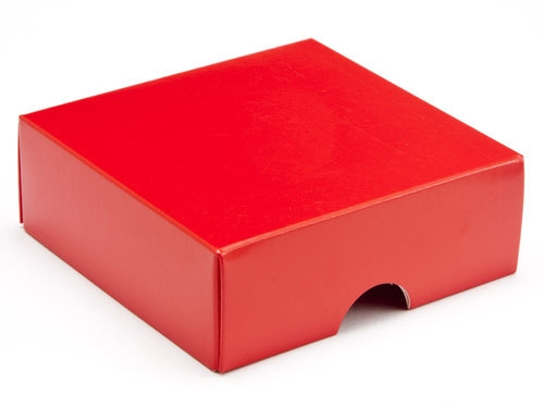 78 x 82 x 32mm - Red Gift Boxes - Lid