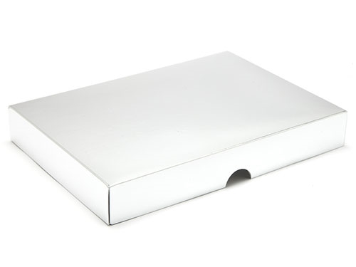 221 x 159 x 32mm - Silver Gift Boxes - Lid