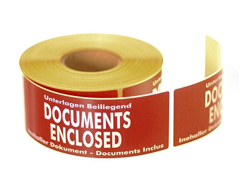 Documents Enclosed Labels