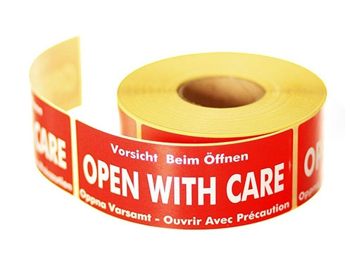 Open With Care Labels