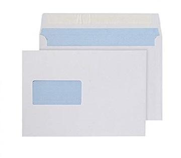 C5 White Envelope With Window - Peel & Seal - Wallet - 100gsm
