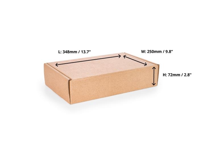 348 x 250 x 72mm Brown Postal Boxes