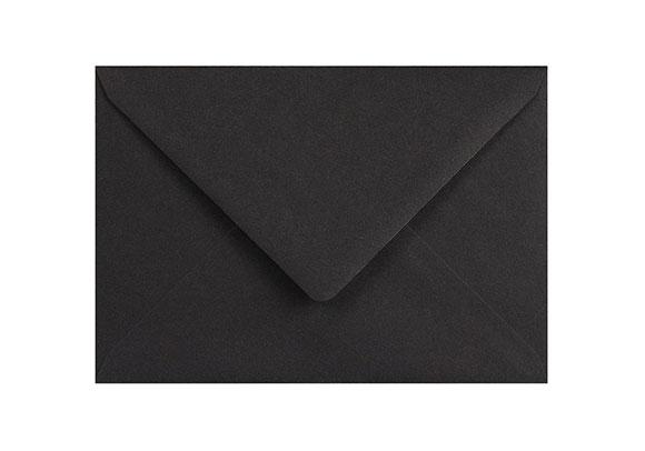 C6 Black Envelopes - Gummed - 120gsm - 2