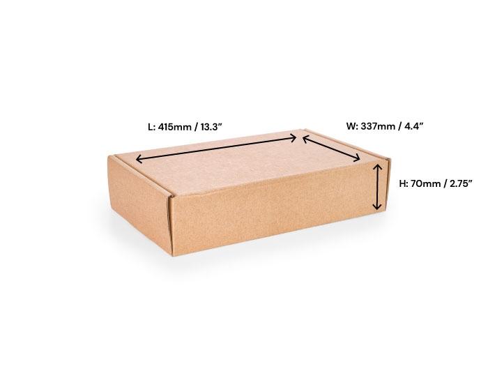 415 x 337 x 70mm Brown Postal Boxes