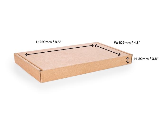 217 x 108 x 20mm Brown Postal Boxes