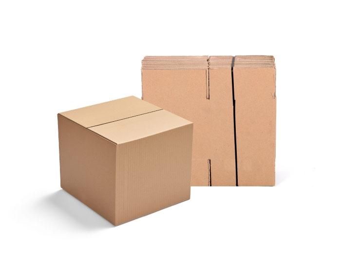 305 x 305 x 305mm Single Wall Cardboard Boxes - 5