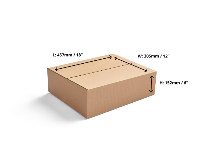 457 x 305 x 152mm Single Wall Cardboard Boxes