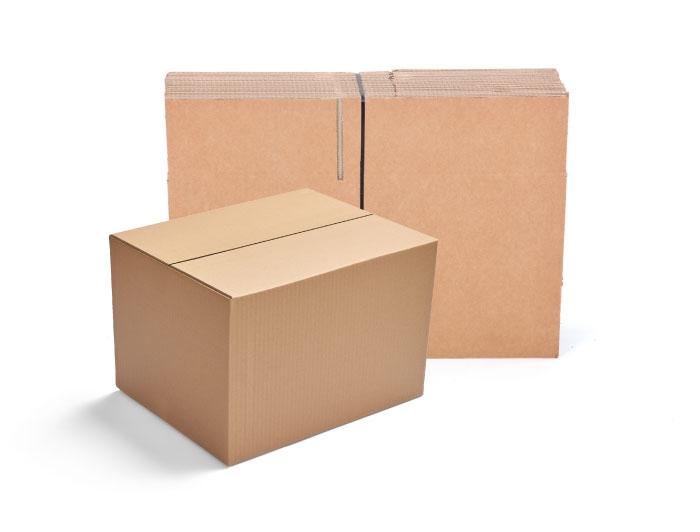 457 x 356 x 356mm Single Wall Cardboard Boxes - 5