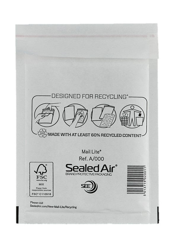 Sealed Air Mail Lite Bags A/000 - White