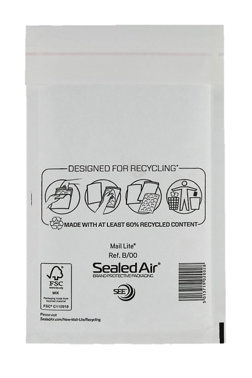 Sealed Air Mail Lite Bags B/00 - White