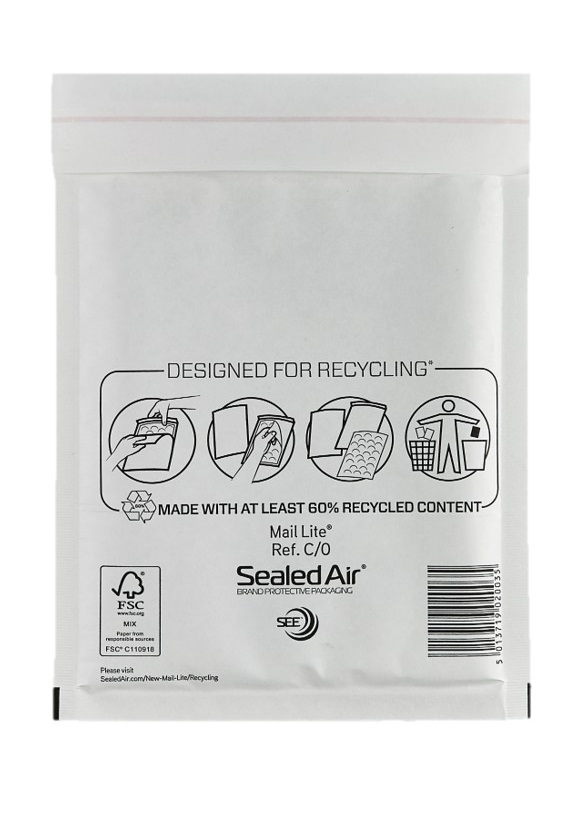 Sealed Air Mail Lite Bags C/0 - White