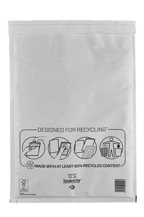 Sealed Air Mail Lite Bags J/6 - White