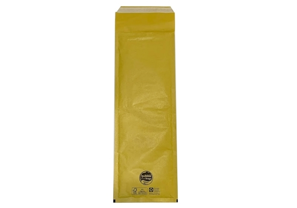 Number Plate Size Standard Bubble Lined Bags - Gold