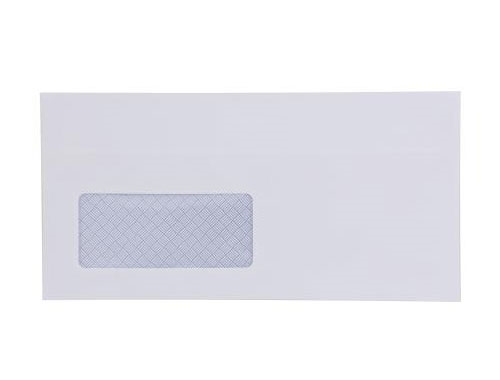 DL White Envelope With Window - Self Seal - Wallet - 90gsm