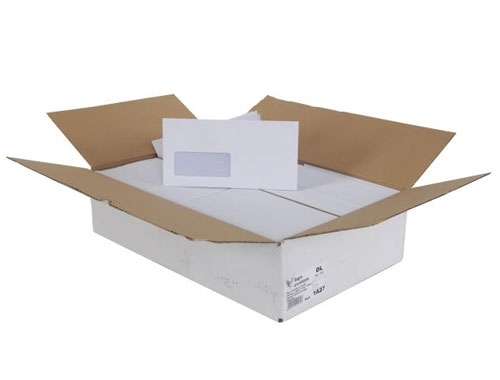 DL White Envelope With Window - Self Seal - Wallet - 90gsm - 2