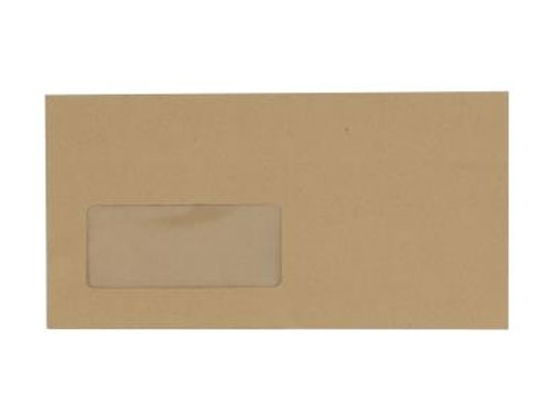 DL Manilla Envelope With Window - Self Seal - Wallet - 80gsm