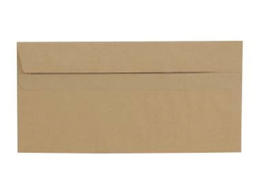 DL Manilla Envelope With Window - Self Seal - Wallet - 80gsm - 3