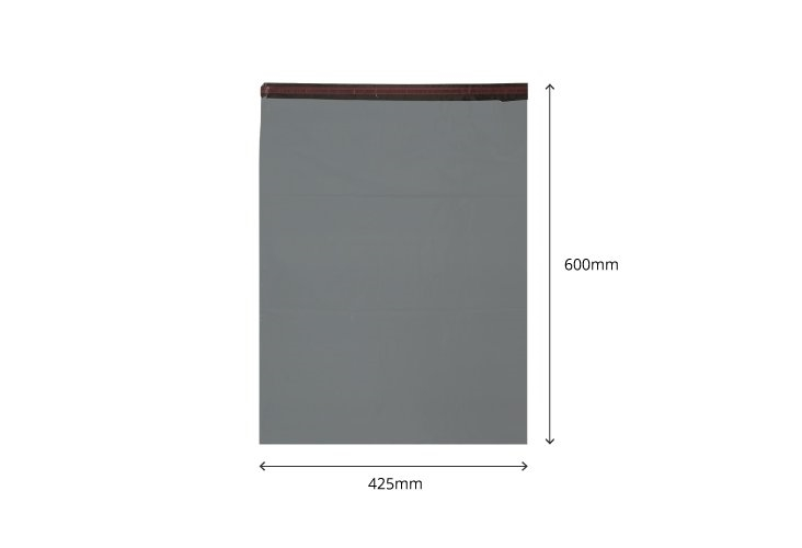 425 x 600mm - Recycled Grey Poly Mailers