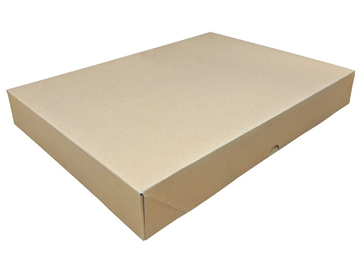 A3 Brown Stationery Box & Lid