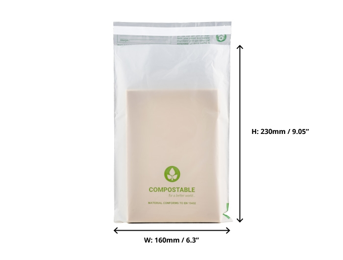 C5 Compostable Mailing Bags - 160 x 230mm