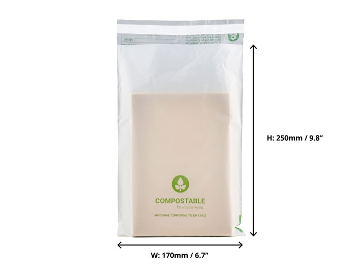 Compostable Mailing Bags - 170 x 250mm