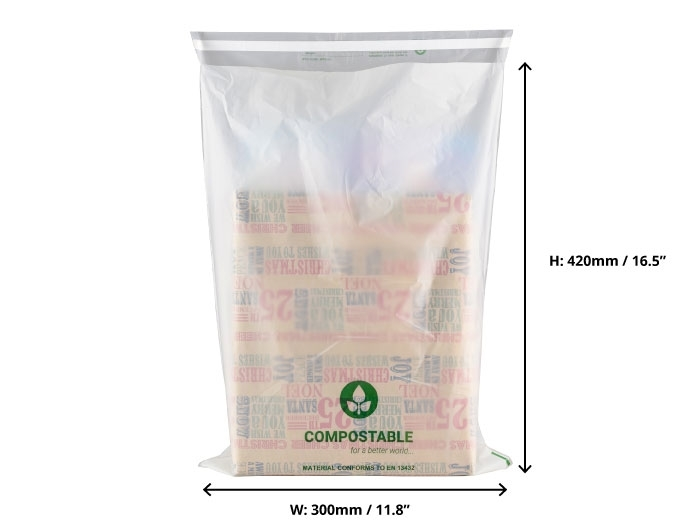 Compostable Mailing Bags - 300 x 420mm