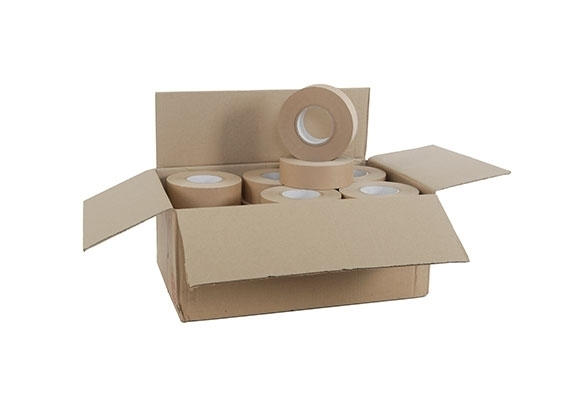48mm x 100m Brown Reinforced Water Activated Tape - 125gsm - 2