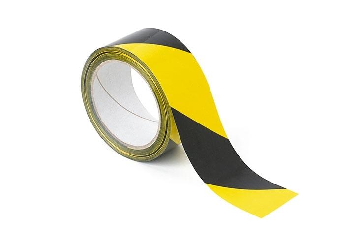 Yellow & Black Floor Marking Tape - 48mm x 33m