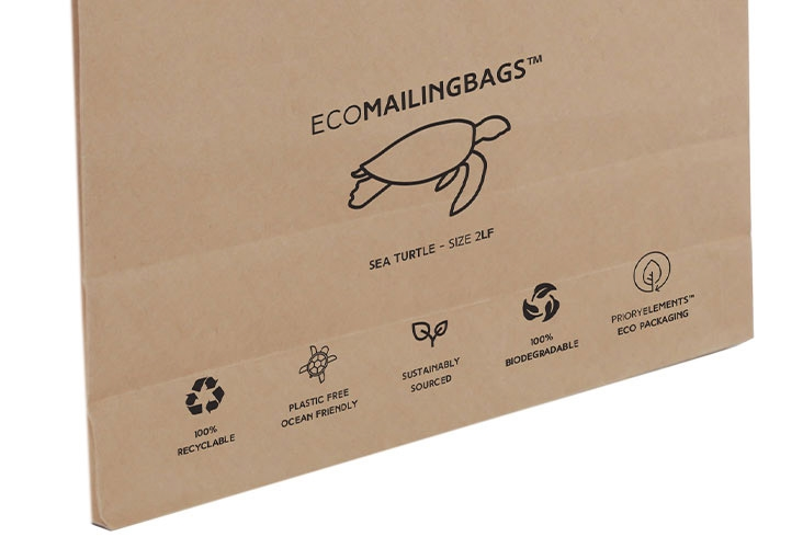 Priory Elements EcoMailingBags™ - 250 x 353 x 25mm - Sea Turtle LF - 6
