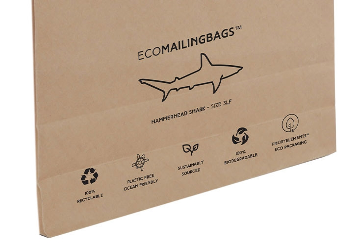 Priory Elements EcoMailingBags™ - 260 x 410 x 25mm - Hammerhead Shark LF - 5
