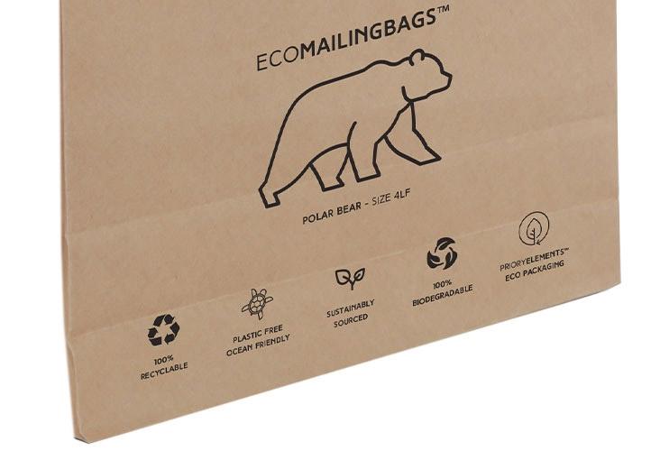 Priory Elements EcoMailingBags™ - 290 x 430 x 25mm - Polar Bear LF - 5