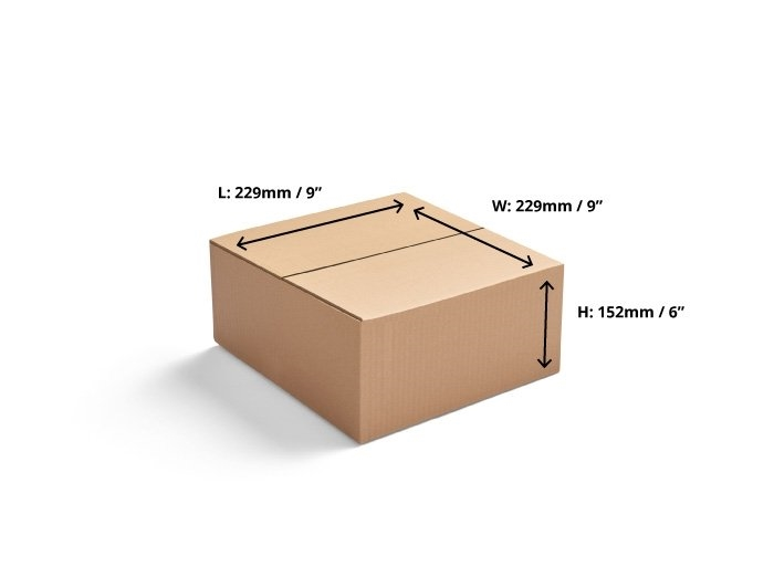 229 x 229 x 152 Single Wall Cardboard Boxes