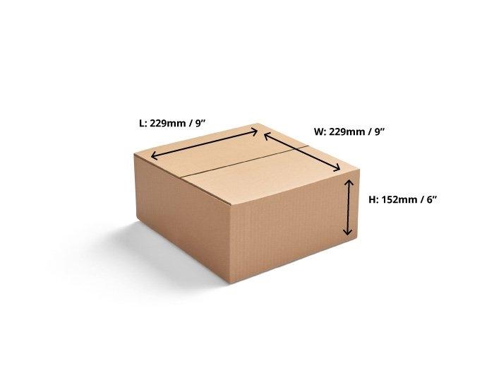 229 x 229 x 152mm Single Wall Cardboard Boxes