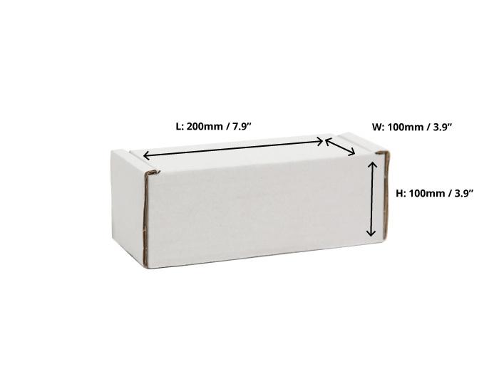 200 x 100 x 100mm White Postal Boxes