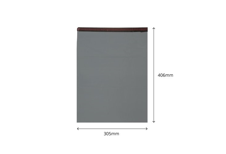 305mm x 406mm - Recycled Grey Poly Mailers