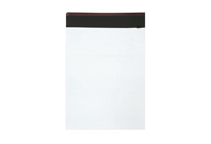 255mm x 340mm +40mm - White Poly Mailers - 2