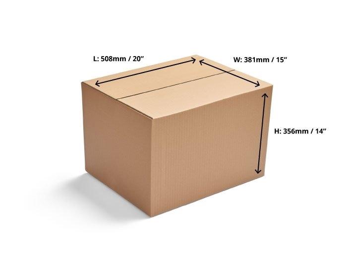 508 x 381 x 356mm Single Wall Cardboard Boxes