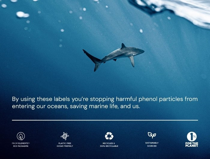 4 x 6 Priory Elements EcoLabels™ - Phenol Free Thermal Labels - 4