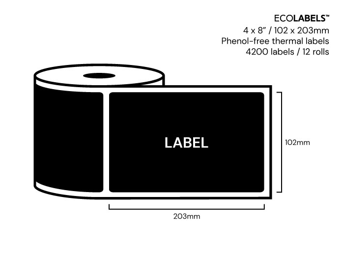 4 x 8 Priory Elements EcoLabels™ - Phenol Free Thermal Labels